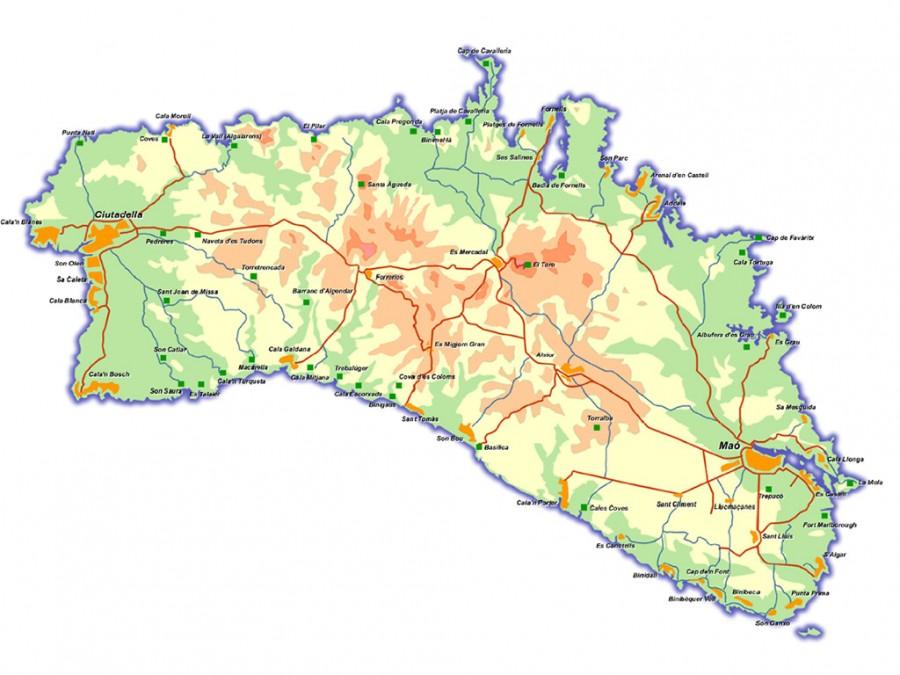 Clickmenorca Mapa De Menorca